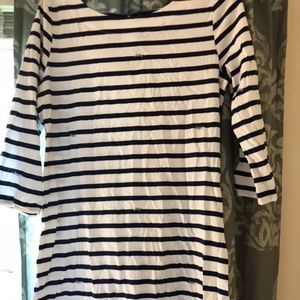 lilly pulitzer stripe feather dress
